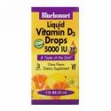 Bluebonnet Nutrition, 液体 ビタミンD3ドロップス、 シトラス、 5000 IU、 1液量オンス (30 ml)