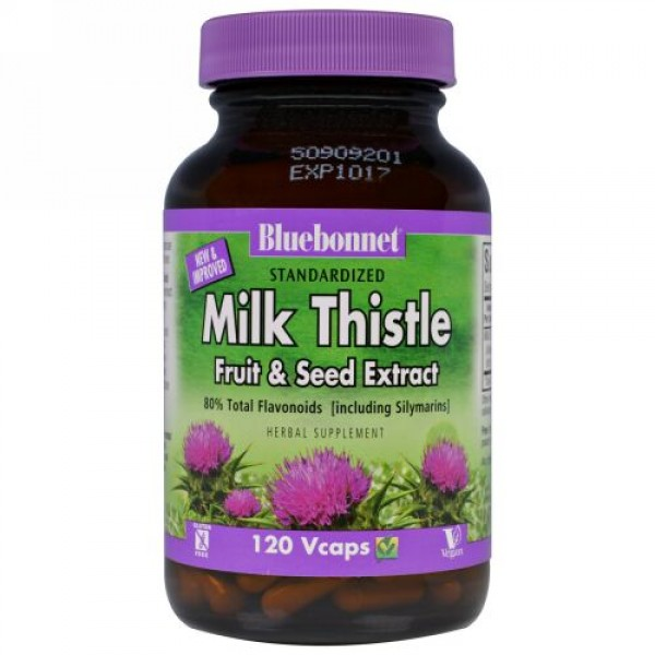 Bluebonnet Nutrition, Herbals, Milk Thistle Extract, 120 Vcaps (Discontinued Item)