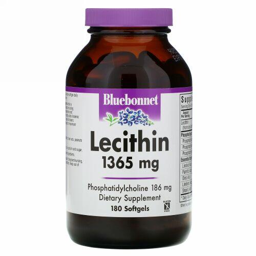 Bluebonnet Nutrition, Natural Lecithin, 1,365 mg, 180 Softgels