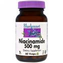 Bluebonnet Nutrition, ナイアシンアミド、500 mg、60ベジキャップ (Discontinued Item)