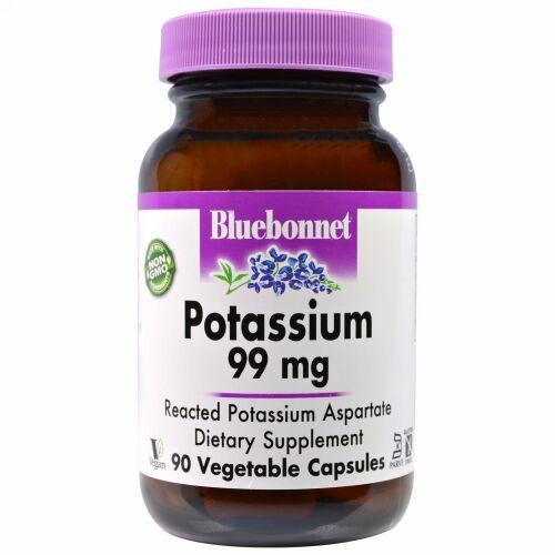 Bluebonnet Nutrition, Potassium, 99 mg, 90 Vegetable Capsules (Discontinued Item)