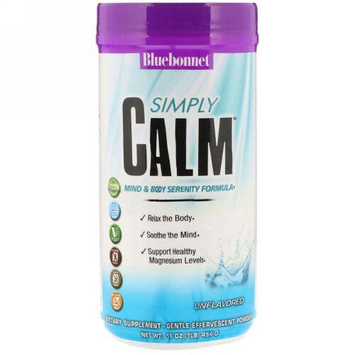 Bluebonnet Nutrition, シンプリーカーム、味付け無し、16オンス (454 g)