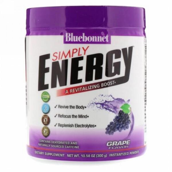 Bluebonnet Nutrition, シンプリーエネルギー、グレープフレーバー、10.58オンス (300 g) (Discontinued Item)