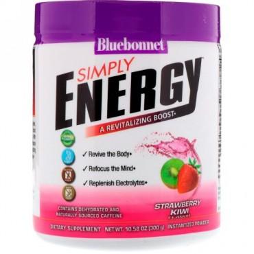 Bluebonnet Nutrition, シンプリーエネルギー、ストロベリーキウイ、10.58オンス (300 g) (Discontinued Item)
