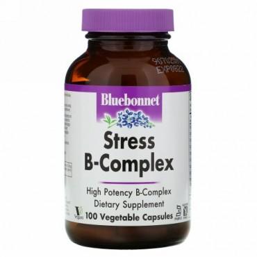 Bluebonnet Nutrition, Stress B-Complex、植物性カプセル100粒