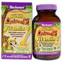 Bluebonnet Nutrition, Super Earth, Rainforest Animalz, Vitamin C, Natural Orange Flavor, 90 Animal-Shaped Chewables
