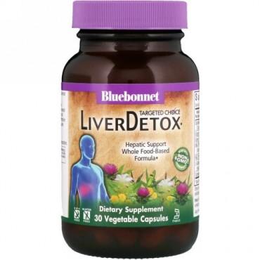 Bluebonnet Nutrition, ターゲットチョイス、肝臓デトックス、植物性カプセル30錠 (Discontinued Item)