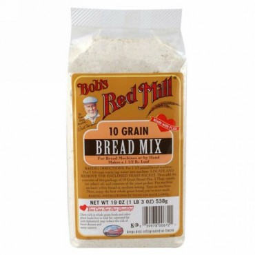 Bob's Red Mill, 10種穀物, 製パン用ミックス粉, 19オンス(538 g) (Discontinued Item)