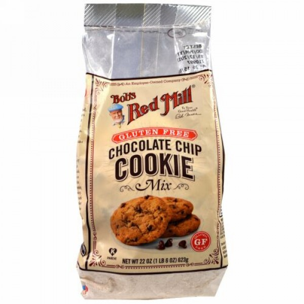 Bob's Red Mill, Chocolate Chip Cookie Mix, Gluten Free, 22 oz (623 g) (Discontinued Item)