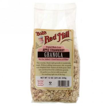Bob's Red Mill, グラノーラ, アップルストロベリー, 12 オンス (340 g) (Discontinued Item)