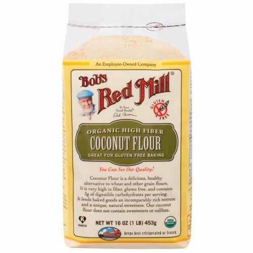 Bob's Red Mill, オーガニック・食物繊維が豊富なココナッツ粉, グルテンフリー, 16 oz (453 g) (Discontinued Item)