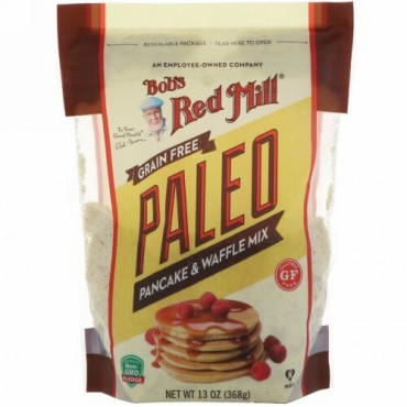 Bob's Red Mill, Paleo Pancake & Waffle Mix, Grain Free, Gluten Free, 13 oz (368 g)