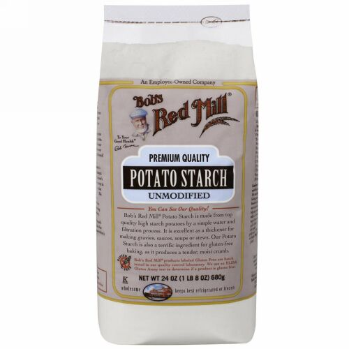 Bob's Red Mill, Potato Starch, Unmodified, 24 oz (680 g) (Discontinued Item)