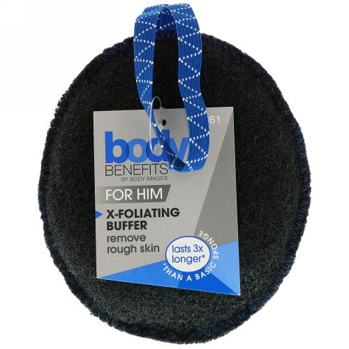 Body Benefits, By Body Image, 男性用、X-フォリエーティングバッファー、1バッファー (Discontinued Item)