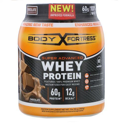 Body Fortress, スーパーアドバンスドホエイプロテイン、チョコレート風味、907g(2ポンド) (Discontinued Item)