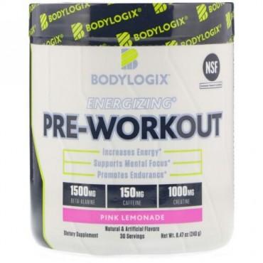 Bodylogix, エネルギー充填プレワークアウト、ピンクレモネード、8.47オンス (240 g) (Discontinued Item)