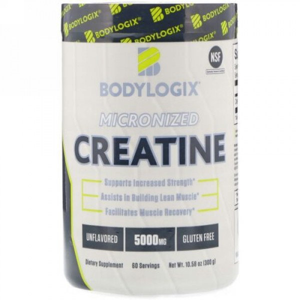 Bodylogix, Micronized Creatine, Unflavored, 5,000 mg, 10.58 oz (300 g) (Discontinued Item)