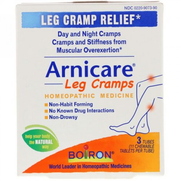 Boiron, Arnicare Leg Cramps, 3 Tubes, 11 Chewable Tablets Each (Discontinued Item)
