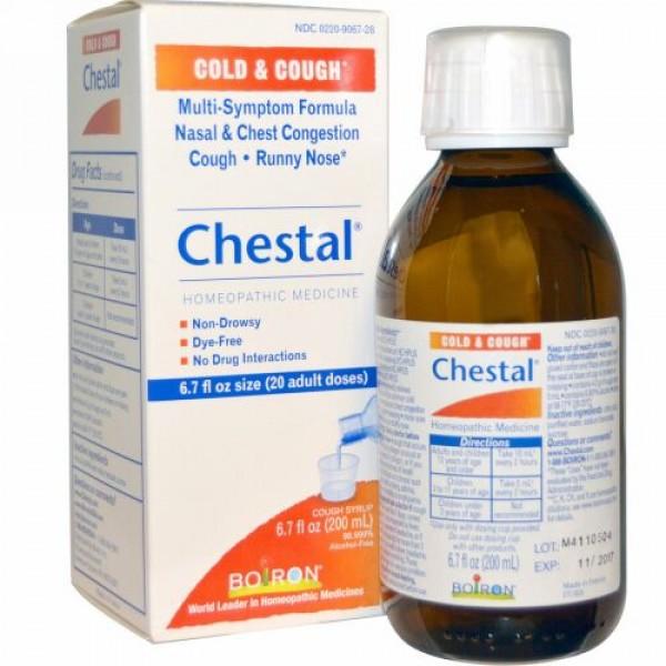 Boiron, Chestal, 風邪と咳に, 6.7液量オンス(200 ml)
