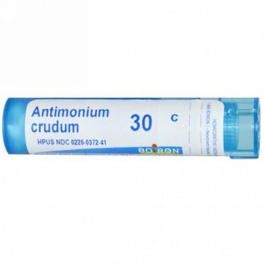 Boiron, Single Remedies, アンチモニウム Crudum, 30C, 約 80粒 (Discontinued Item)