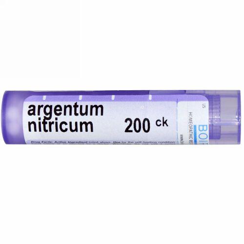 Boiron, Single Remedies, Argentum Nitricum(アルゲンタム ニトリクム)、200CK、約80ペレット (Discontinued Item)