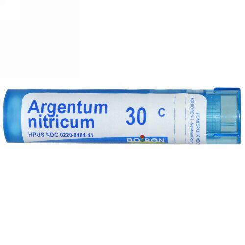 Boiron, Single Remedies, Argentum Nitricum(アルゲンタム ニトリカム)、30C、約80ペレット