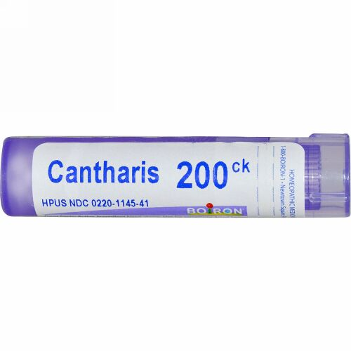 Boiron, Single Remedies, Cantharis(カンタリス)、200CK、約80ペレット (Discontinued Item)