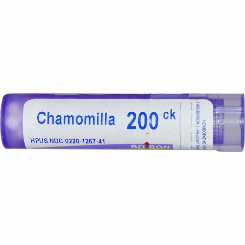 Boiron, Single Remedies, Chamomilla(カモミール)、200CK、約80ペレット (Discontinued Item)