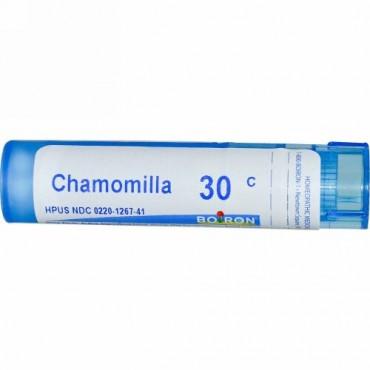 Boiron, Single Remedies, Chamomilla(カモミール)、30C、約80ペレット