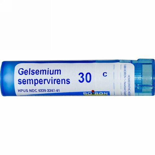 Boiron, Single Remedies, Gelsemium Sempervirens(ゲルセミアム センパバイレンス)、30C、約80ペレット