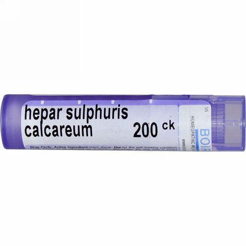 Boiron, Single Remedies, Hepar Sulphuris Calcareum(ヘパ サルファリス カルカリアム)、200CK、約80ペレット (Discontinued Item)