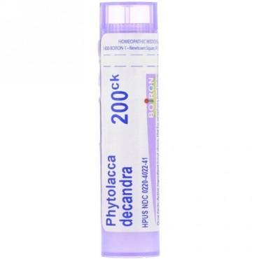 Boiron, Single Remedies, Phytolacca Decandra(ファイトラカ デキャンドラ)、200CK、約80ペレット (Discontinued Item)