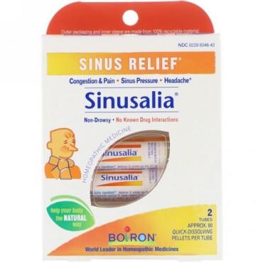 Boiron, サイヌサリア(Sinusalia), 副鼻腔の救済, 2チューブ, 各約80速溶性ペレット