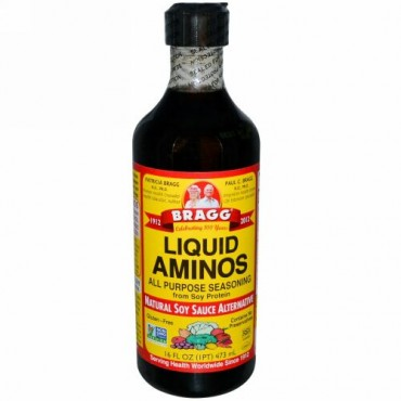 Bragg, 液体アミノ類, 天然の醤油代替品, 16液量オンス (473 ml) (Discontinued Item)