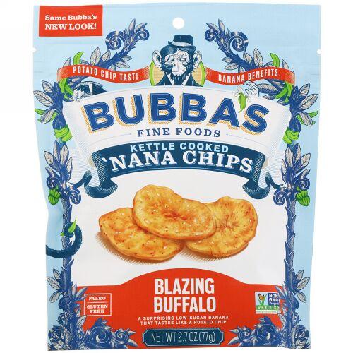 Bubba's Fine Foods, 'ナナチップス、ブレイジングバッファロー、2.7オンス (77 g) (Discontinued Item)