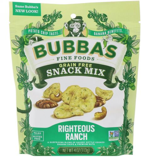Bubba's Fine Foods, Snack Mix, Righteous Ranch, 4 oz (113 g) (Discontinued Item)