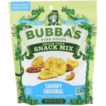 Bubba's Fine Foods, スナックミックス、セイボリーオリジナル、4オンス (113 g) (Discontinued Item)