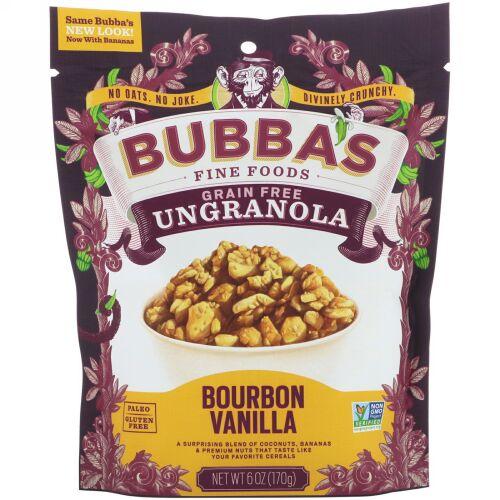 Bubba's Fine Foods, アングラノーラ、バーボンバニラ、6オンス (170 g) (Discontinued Item)
