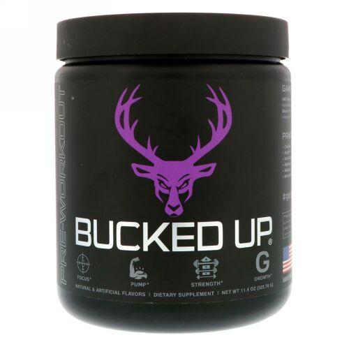 Bucked Up, プレワークアウト、グレープゲインズ、11.4 oz (323.70 g) (Discontinued Item)