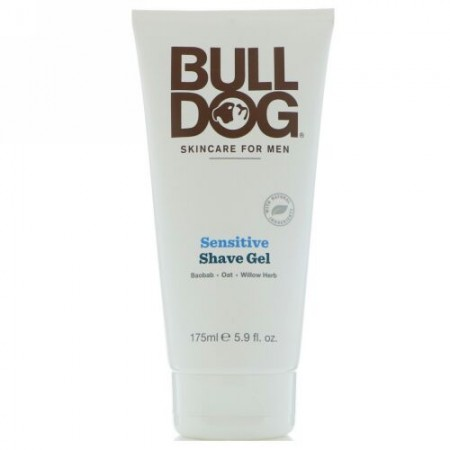 Bulldog Skincare For Men, 敏感肌用シェーブジェル、5.9 fl oz (175 ml) (Discontinued Item)