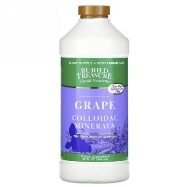 Buried Treasure, 70+ 植物性ミネラル、コンコード・グレープ、 32 液量オンス (946 ml)