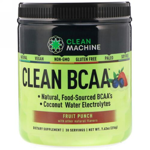 CLEAN MACHINE, Clean BCAA, Fruit Punch, 7.62 oz (216 g) (Discontinued Item)