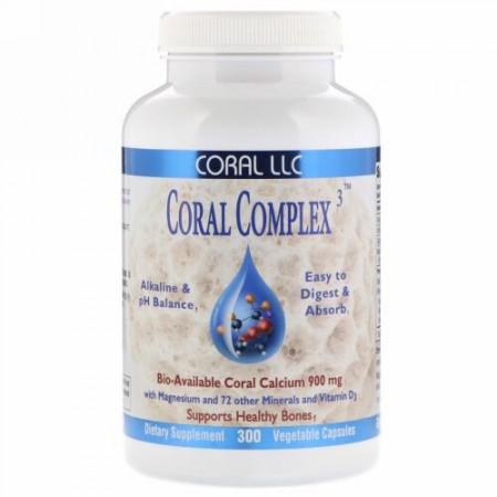 CORAL LLC, Coral Complex 3、植物性カプセル300粒 (Discontinued Item)