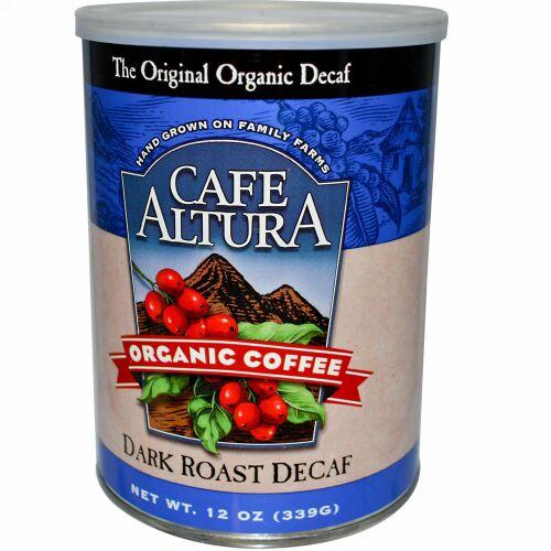 Cafe Altura, オーガニックコーヒー, ダークロースト・デカフェ, 12 オンス (339 g)