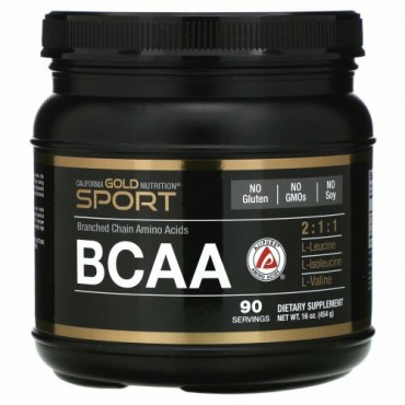 California Gold Nutrition, BCAAパウダー、AjiPure®(アジピュア)、分岐鎖アミノ酸、454 g(16 oz)