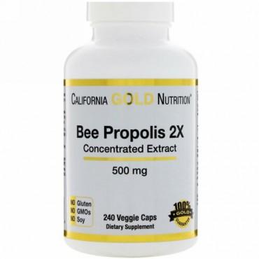 California Gold Nutrition, ビープロポリス2倍、濃縮エキス、500mg、ベジカプセル240粒