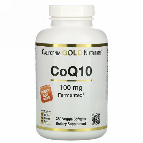 California Gold Nutrition, CoQ10、100mg、植物性ソフトジェル360粒