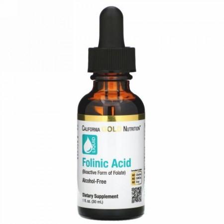 California Gold Nutrition, フォリン酸、アルコール不使用、30ml(1液量オンス)