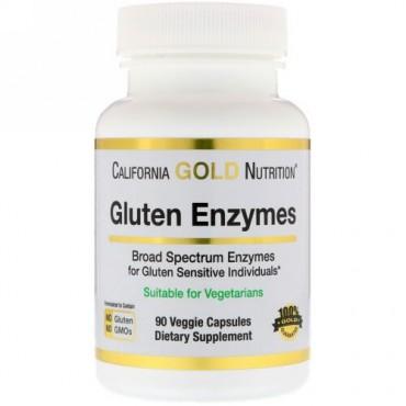 California Gold Nutrition, グルテン酵素 90植物性カプセル (Discontinued Item)