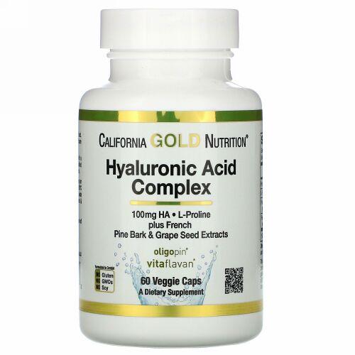 California Gold Nutrition, ヒアルロン酸コンプレックス、ベジカプセル60粒